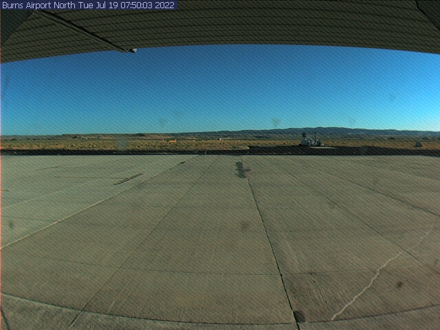 Picture of Burns Airport web cam looking north