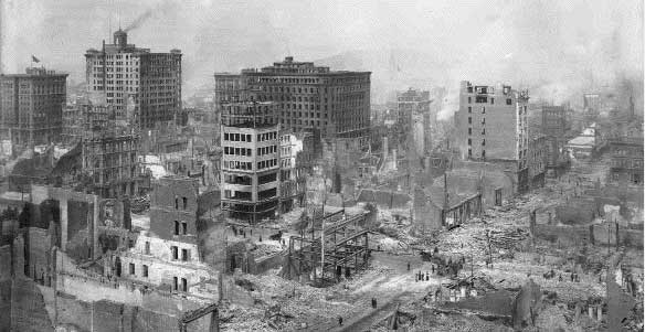 picture of san francicso after the 1906 earthquake