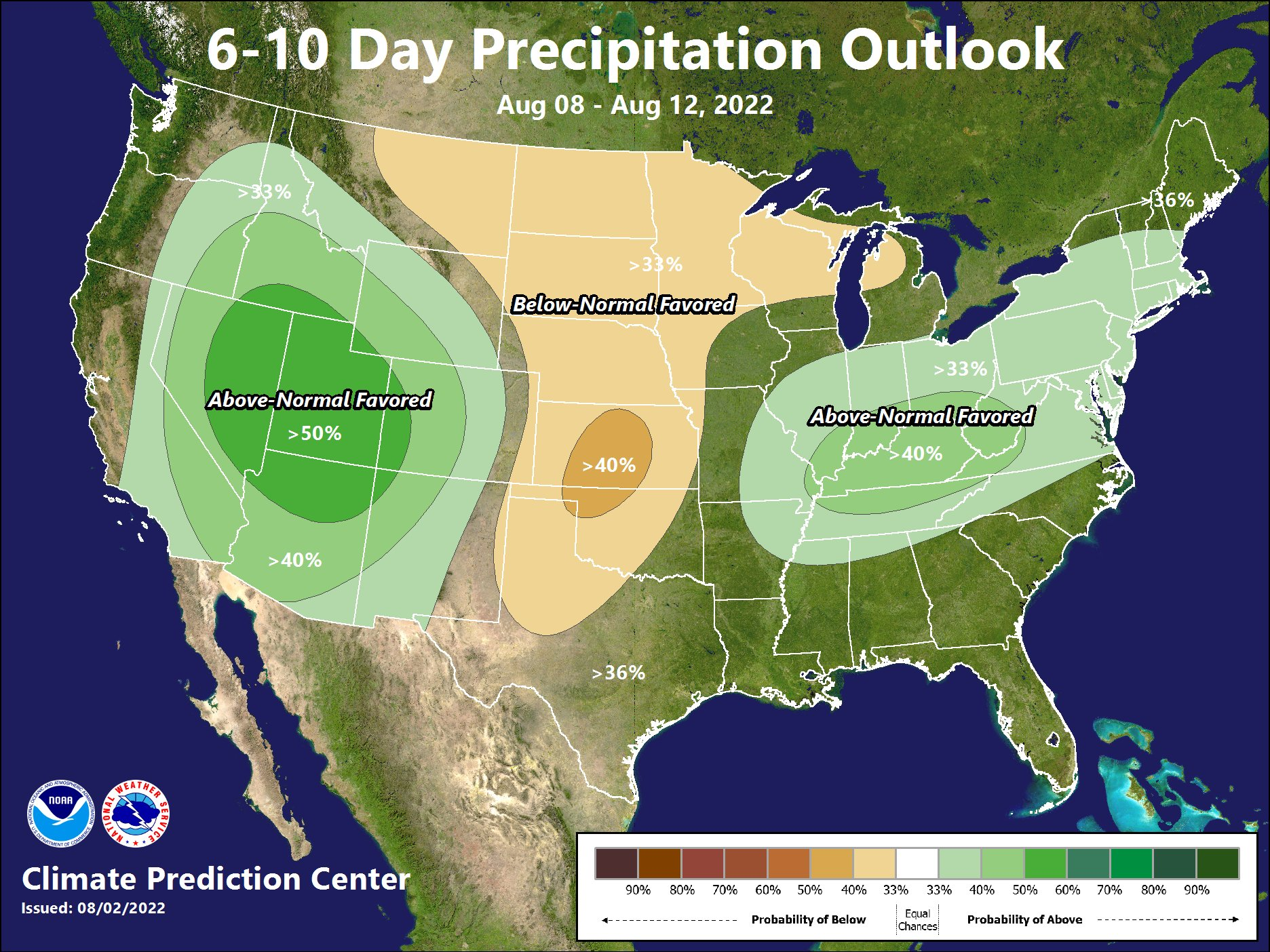 6 - 10 Day Precipitation Outlook