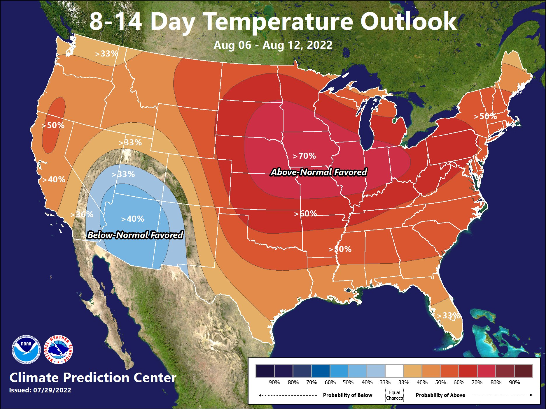 8 - 14 Day Temperature Outlook