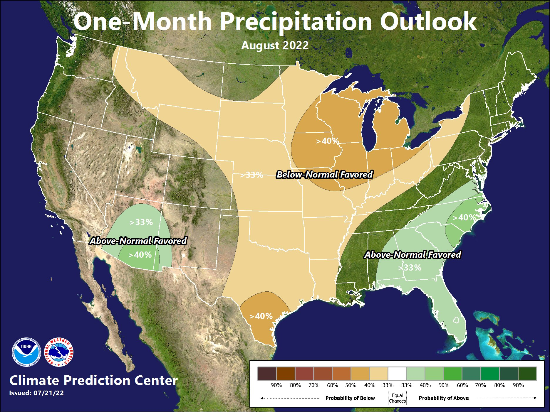 1 Month Precipitation Outlook