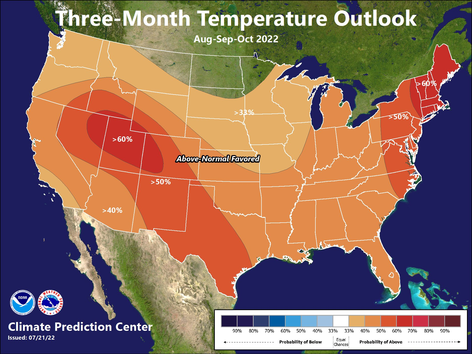 3 Month Temperature Outlook