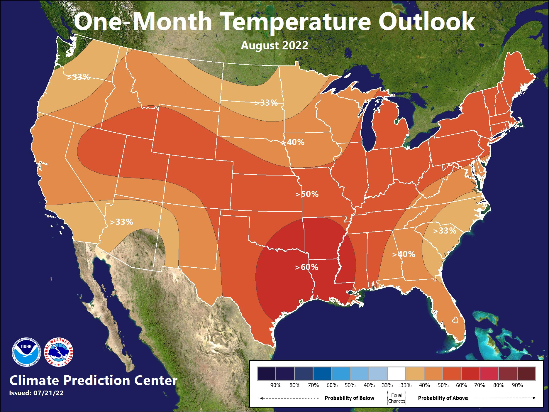 1 Month Temperature Outlook