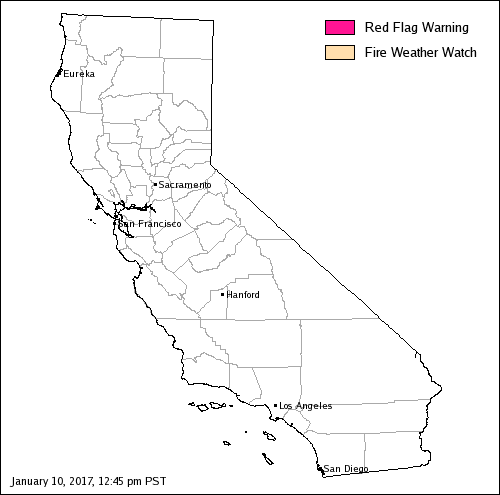 California Fire Weather Map