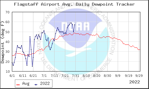 Flagstaff Dewpoints - Summer 2010